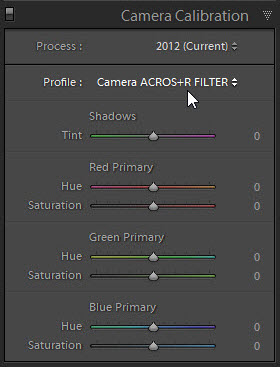 X-LR : Automatically apply Fuji film simulations in