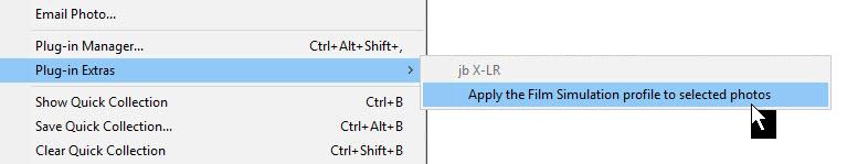 X-LR : Automatically apply Fuji film simulations in Lightroom